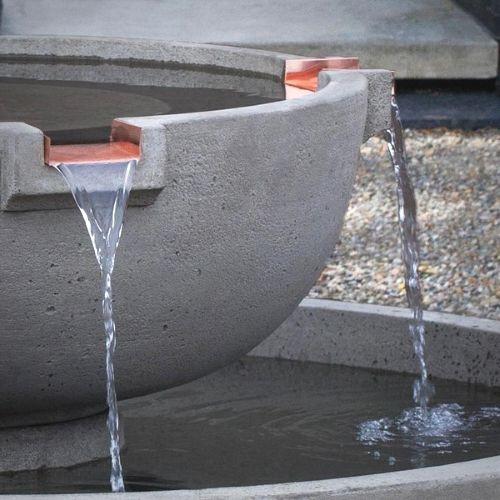 Copper Fountain Scupper Detail Del Rey