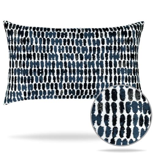 Thumbprint Indigo Pillow and Zoom Detail