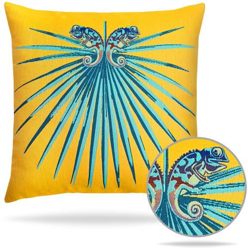 Chameleon Lagoon Pillow