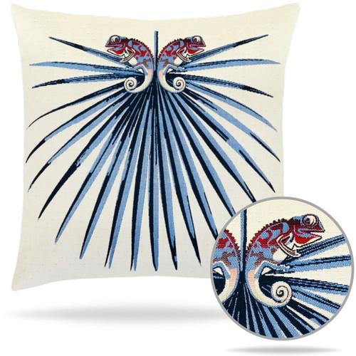 Capri Chameleon Pillow Details and stitching
