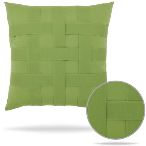 Basketweave Ginko Outdoor Sunbrella Pillow