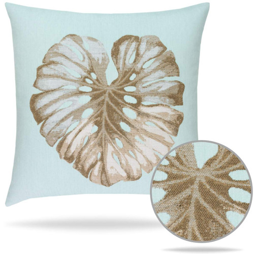 Glacier Leaf Elaine Smith Sunbrella Pillow Outdoor Luxury