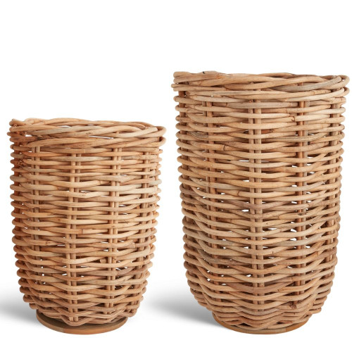 Large and Medium Kaya Rattan Basket Planter