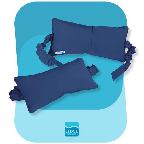 Ledge Lounger Headrest Pillow Blue