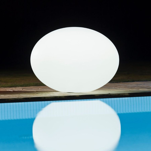White Large Flatball Poolside