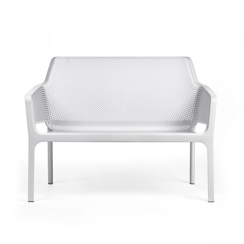 Net Relax Bench in White Bianco