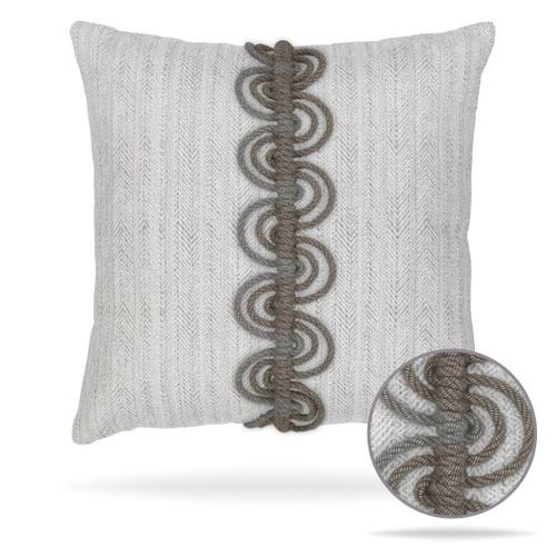 Dressage PEbble Pillow front