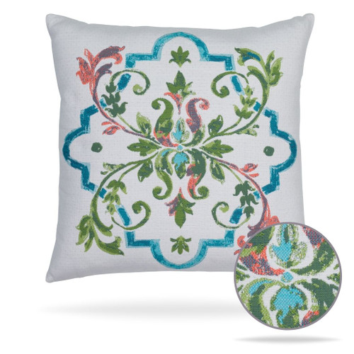 "Talavera Spring Pillow | Elaine Smith Outdoors | 20"" square"