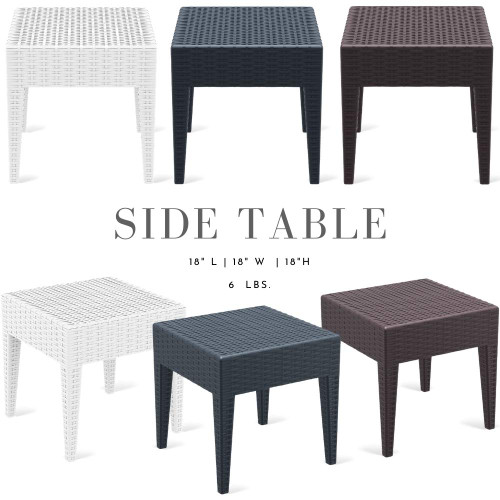 Wovenlook Side Table in matching colors