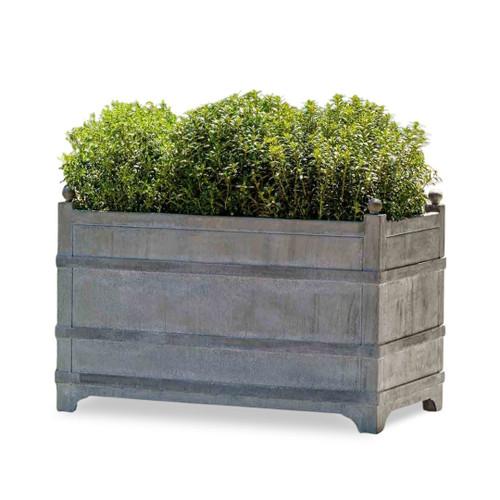 zinc rectangular planter
