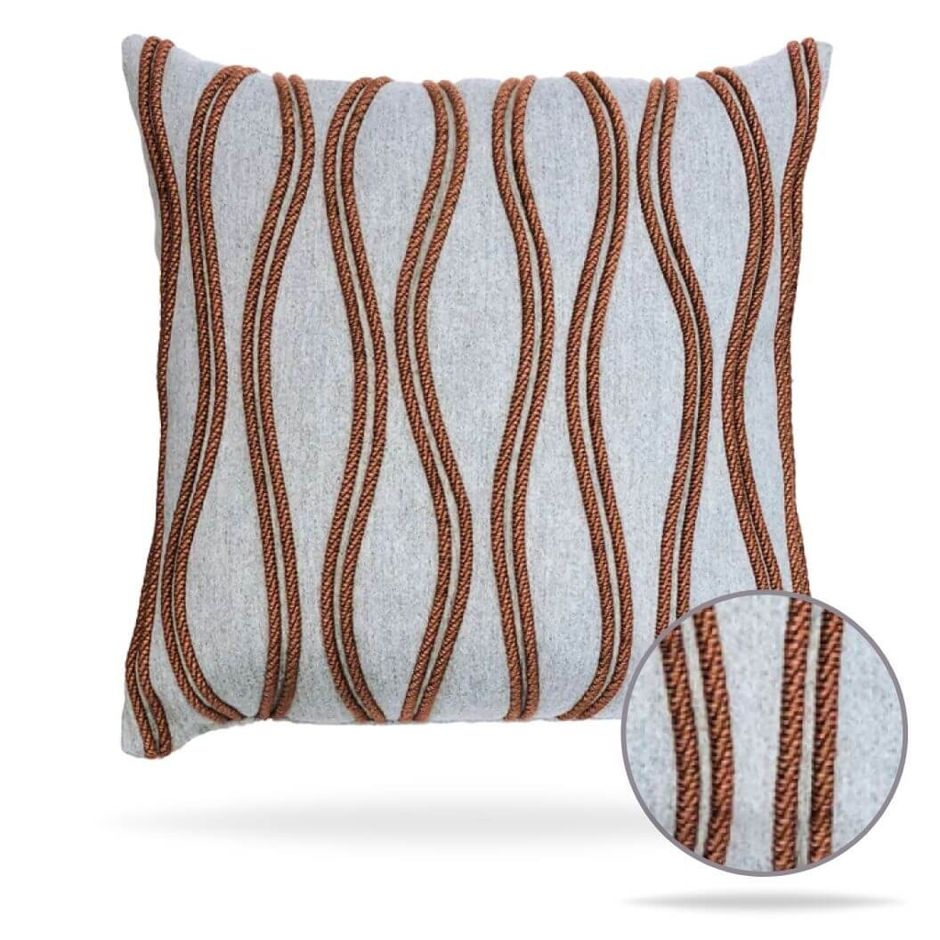 19z2 Ripple Sienna Pillow Front