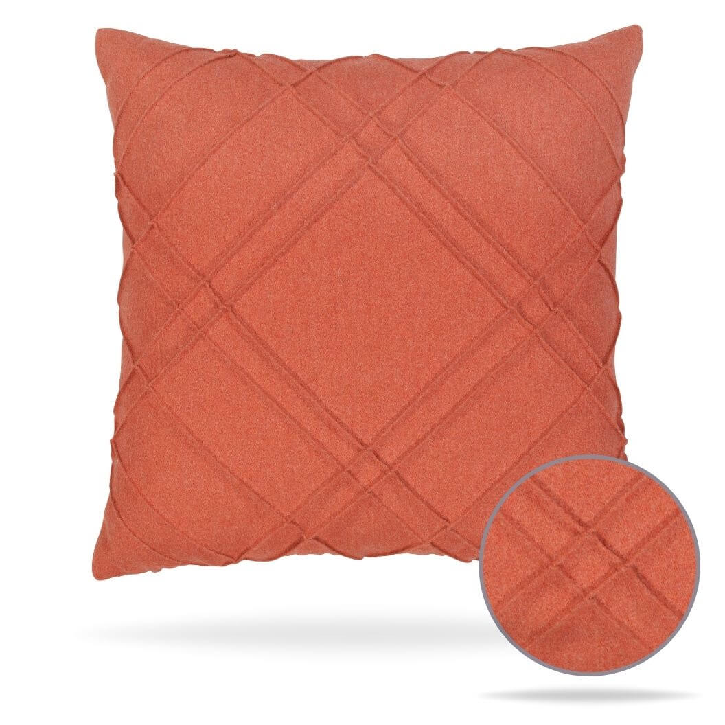 20d2 Delineation Papaya Pillow Front