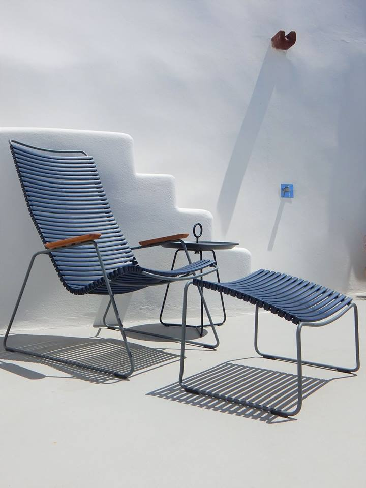The playnk lounge chair can handle the sun with its UV resin slats.