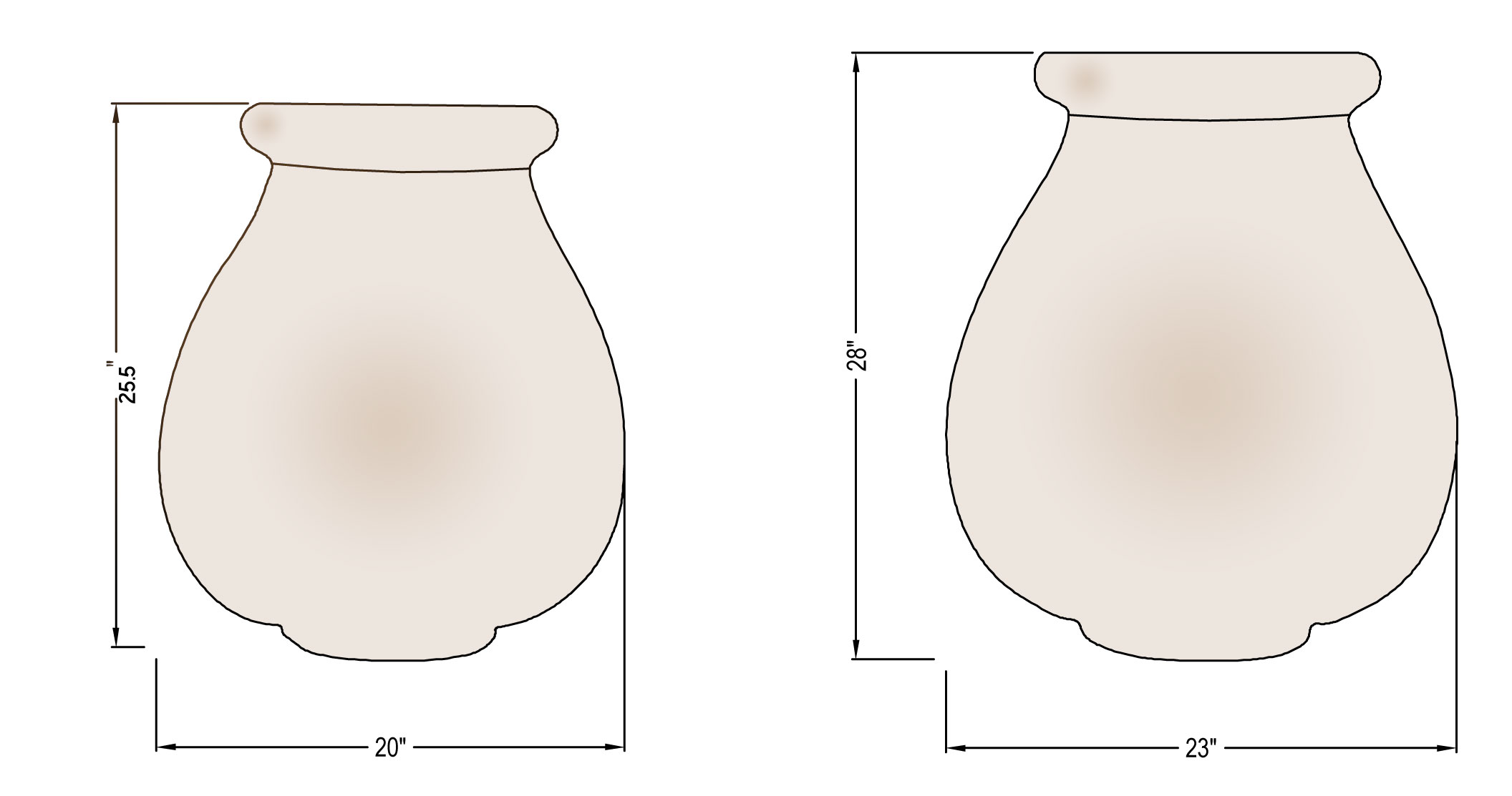Oil Jar Dimensions
