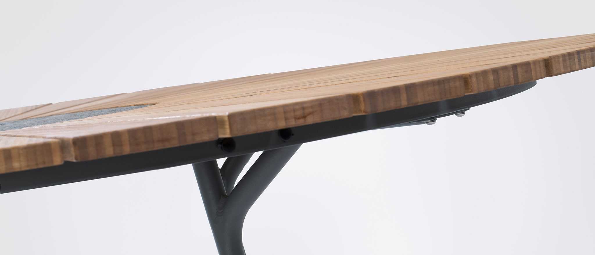 PLAYNK Bamboo table details from Ledge Lounger and HOUE