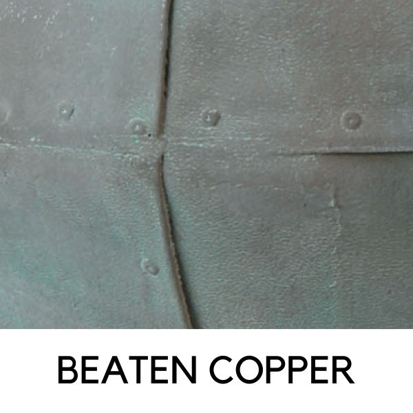 beaten-copper finish
