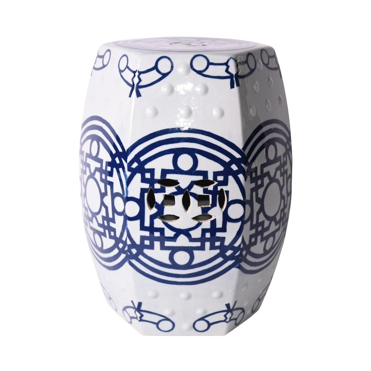 blue-white-hexagon-garden-stool