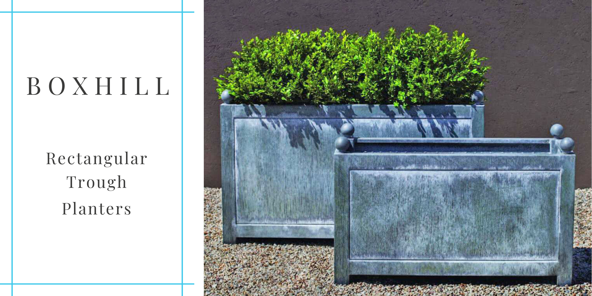 boxhill-zinc-planters in two sizes