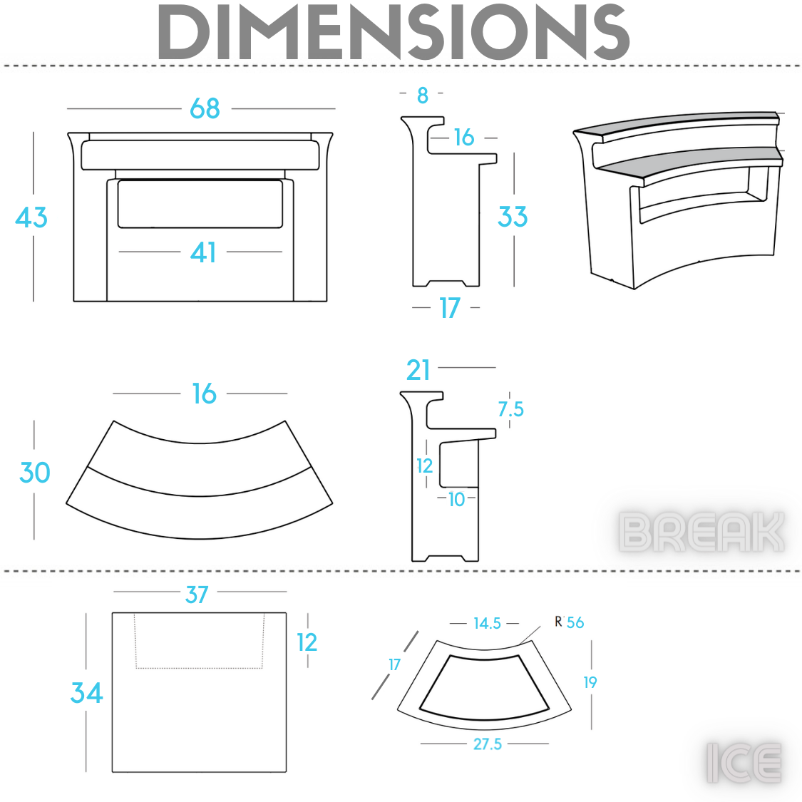 break bar from Slide Design-dimensions