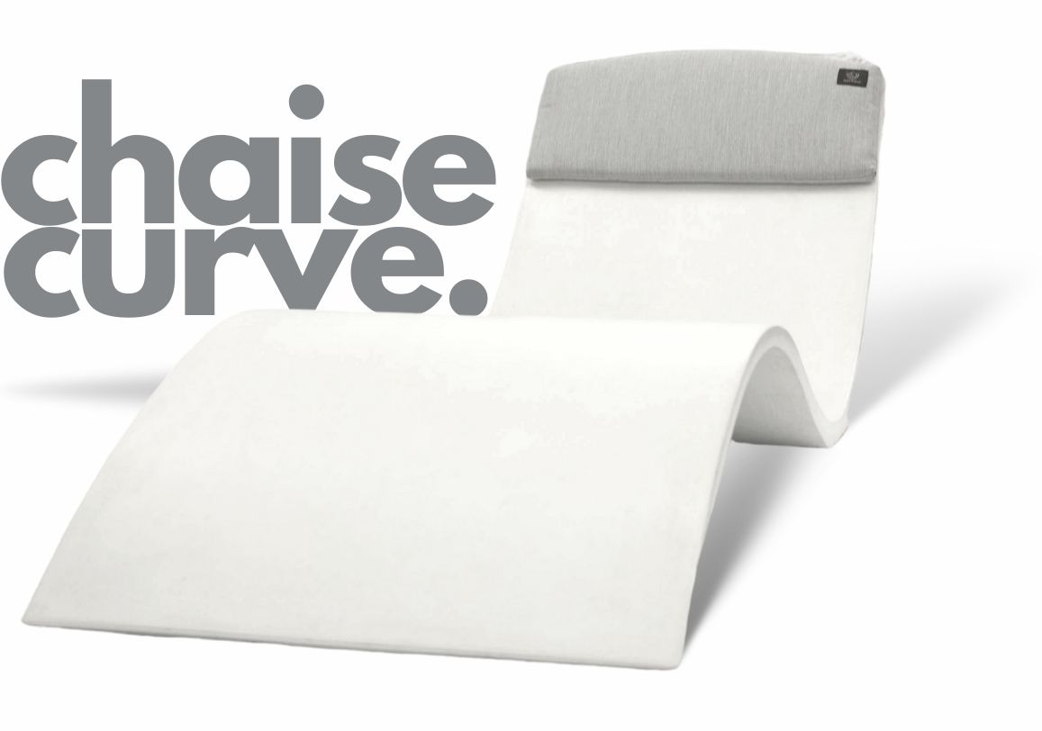 chaise-curve silhouette in pool tanning chaise
