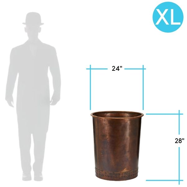 charleston-copper-planter-size XL