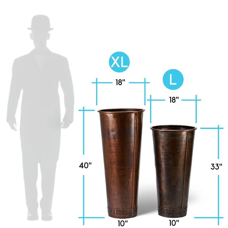 charleston-tall-copper-planter-dimensions