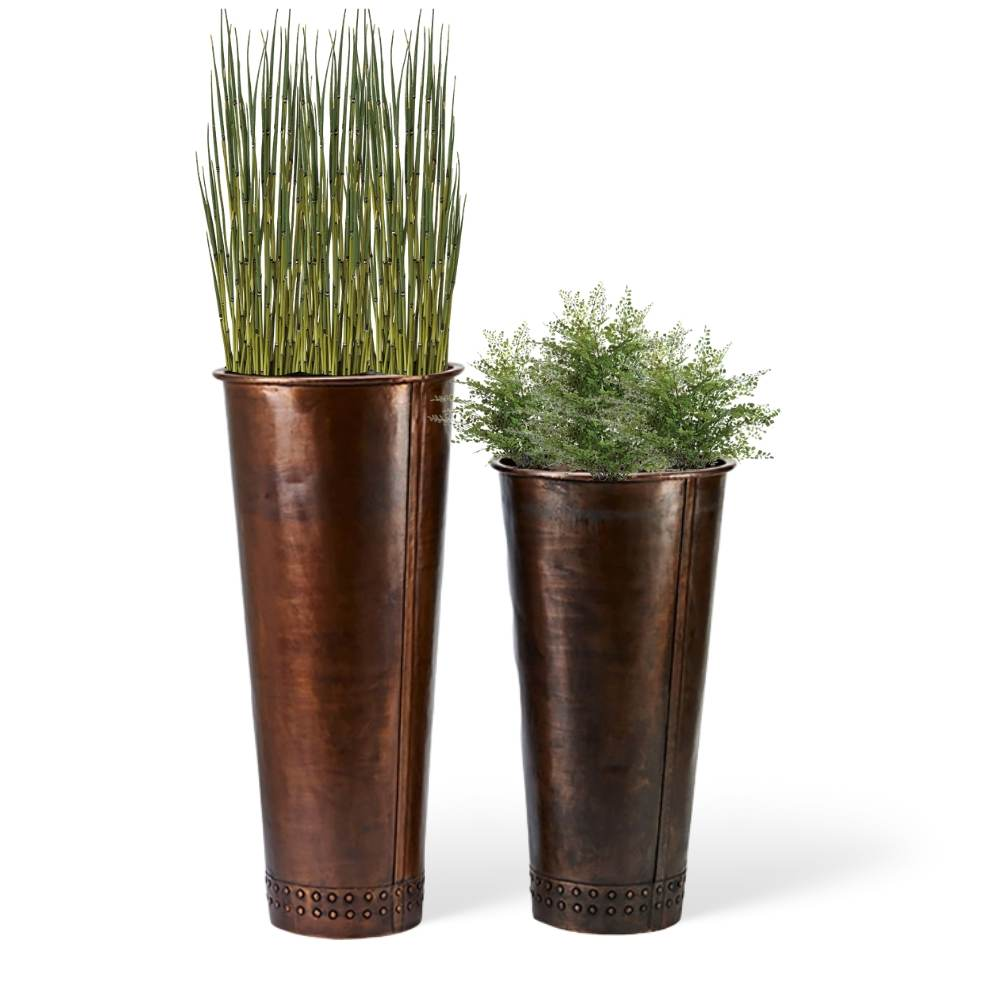 charleston-tall-copper-planters-2-sizes