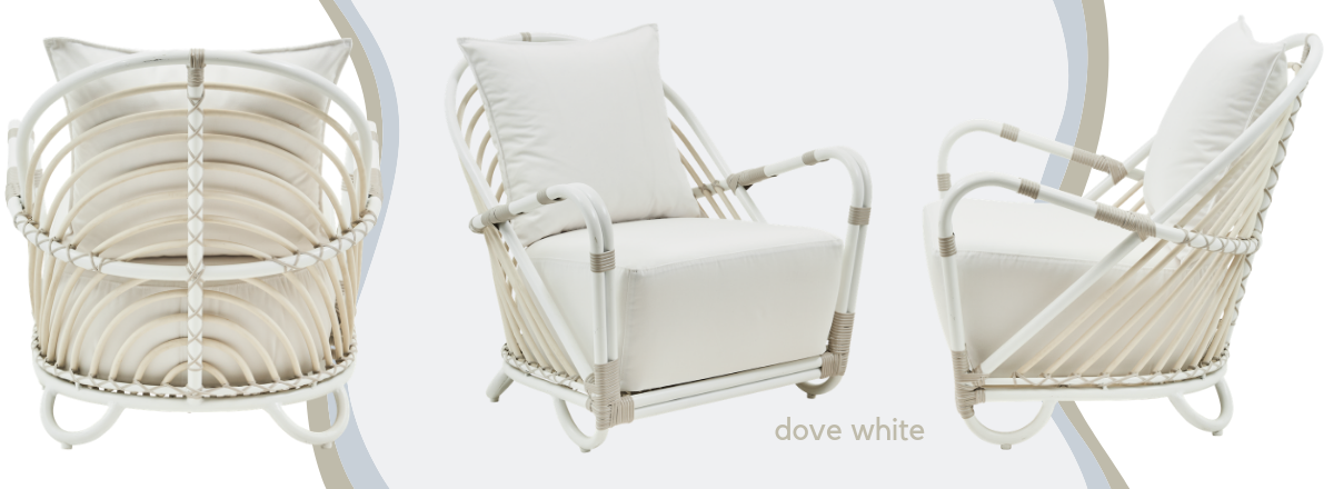 charlottenborg chair in dove white for the exterior