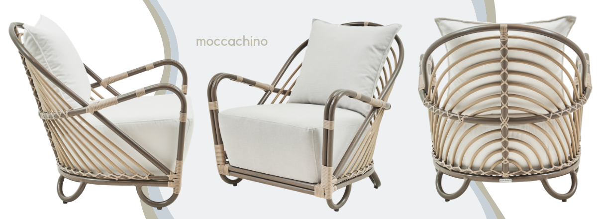 charlottenborg chair in moccachino for the outdoors