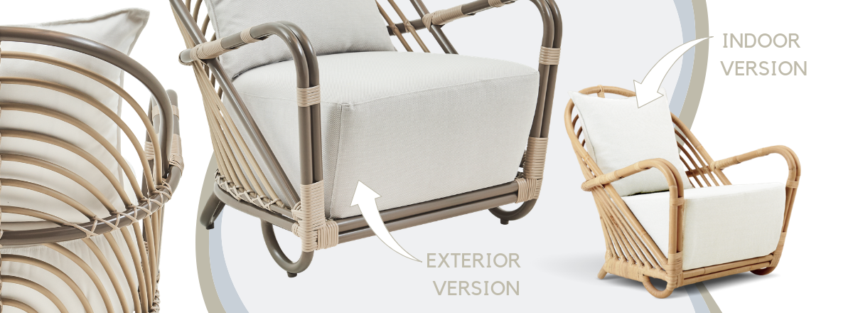 charlottenborg chair outdoors versus the original design