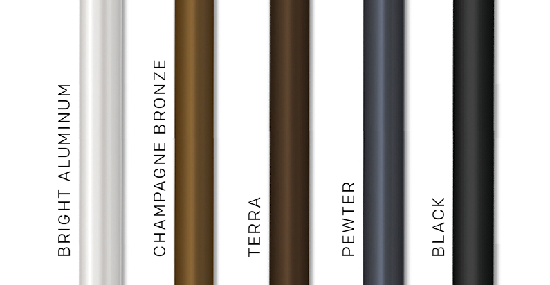 choice-series umbrella pole-finishes