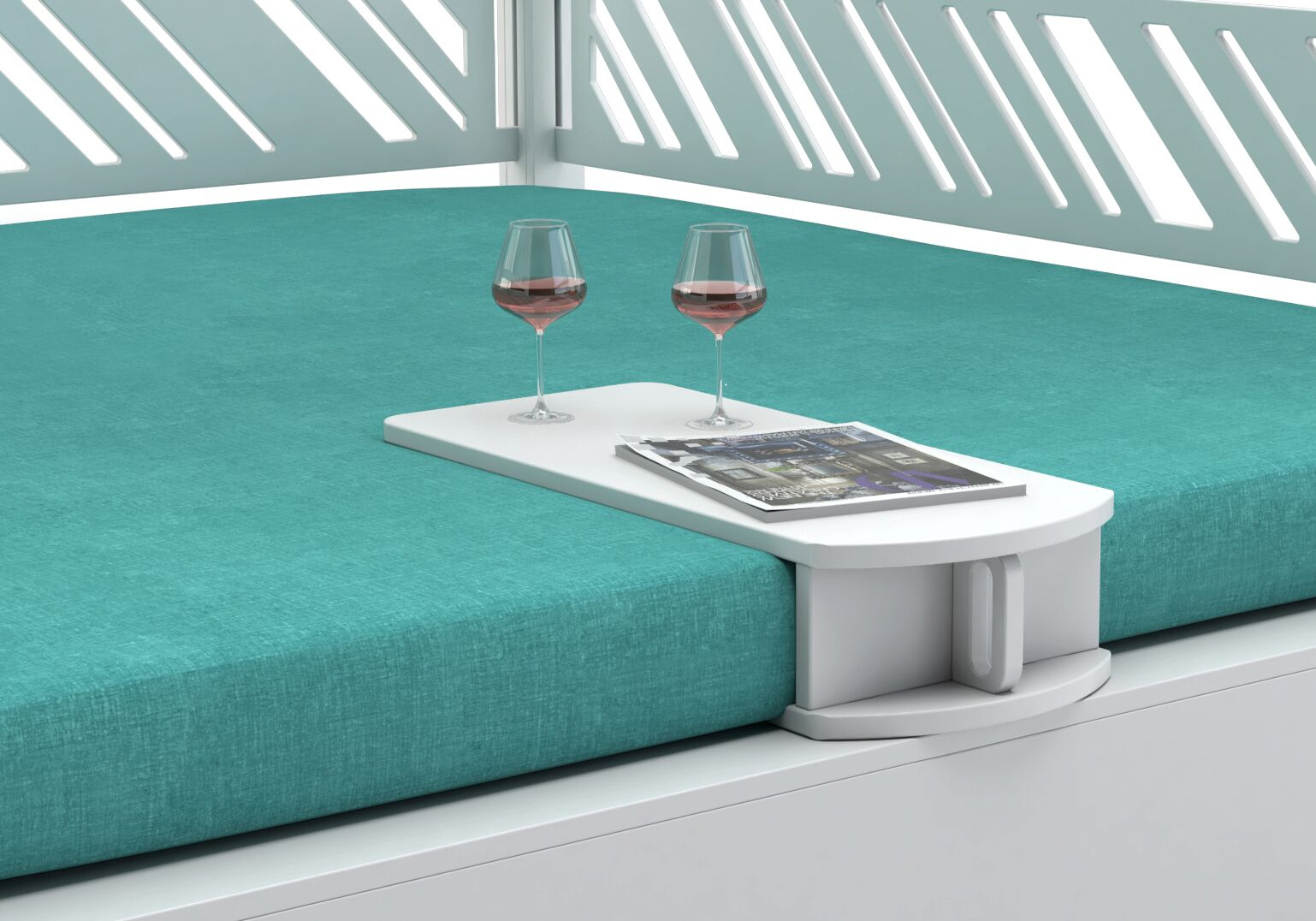 Ledge Lounger Daybed Cocktail Table