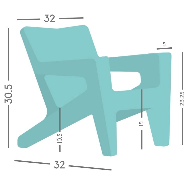 costarondack-chair-dimensions in pool
