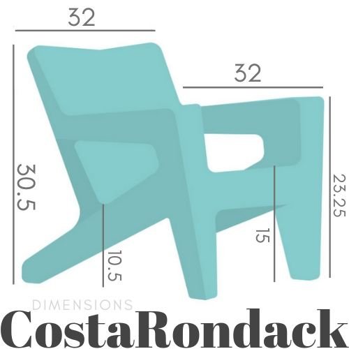 Costarondack chair dimensions