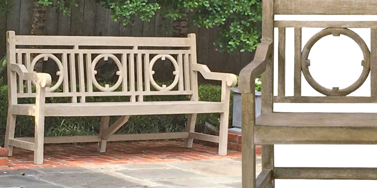 Currey Company Outdoor Faux Bois Leagrave Bench