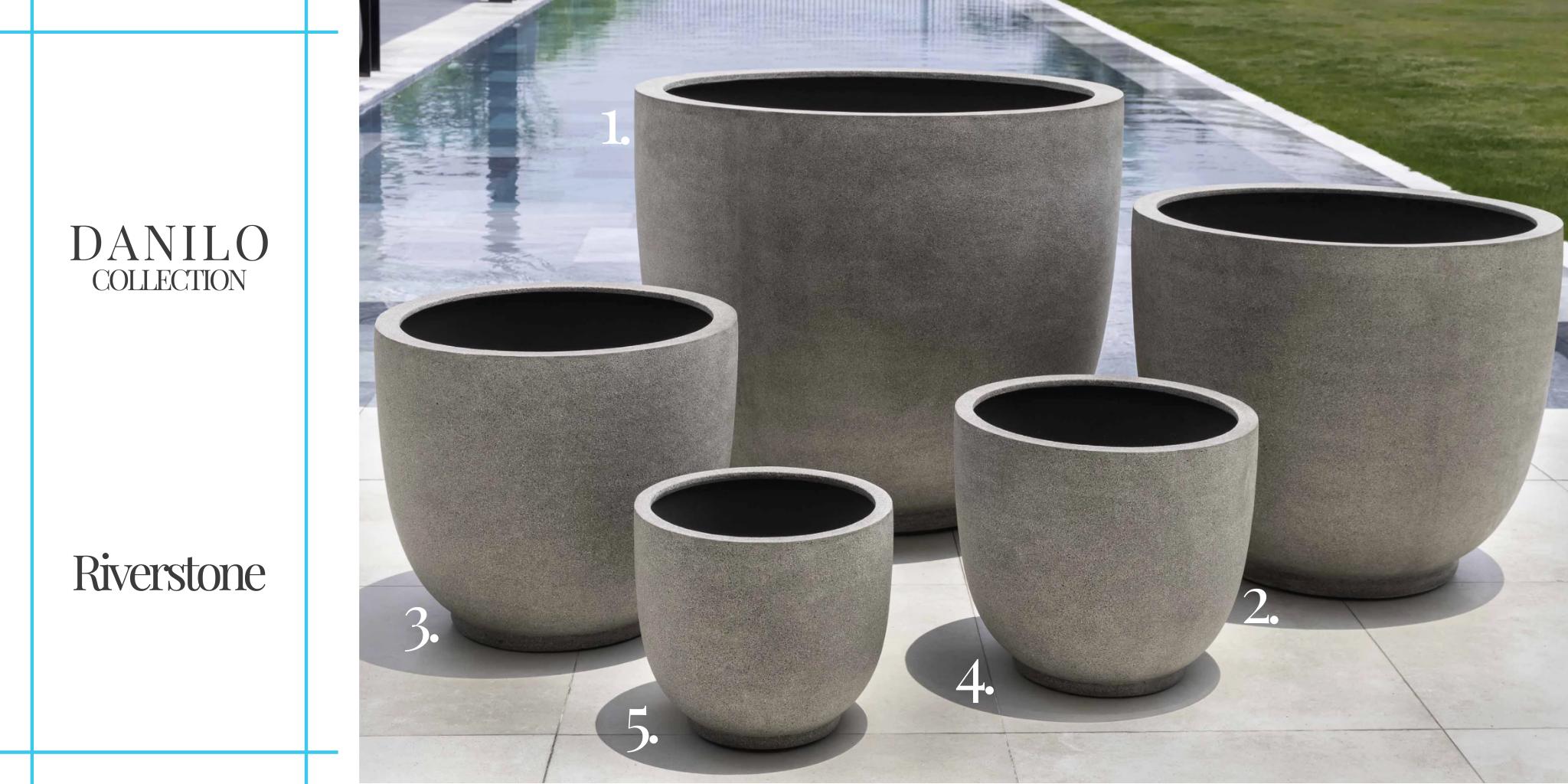 danilo-collection-riverstone planter set by Campania