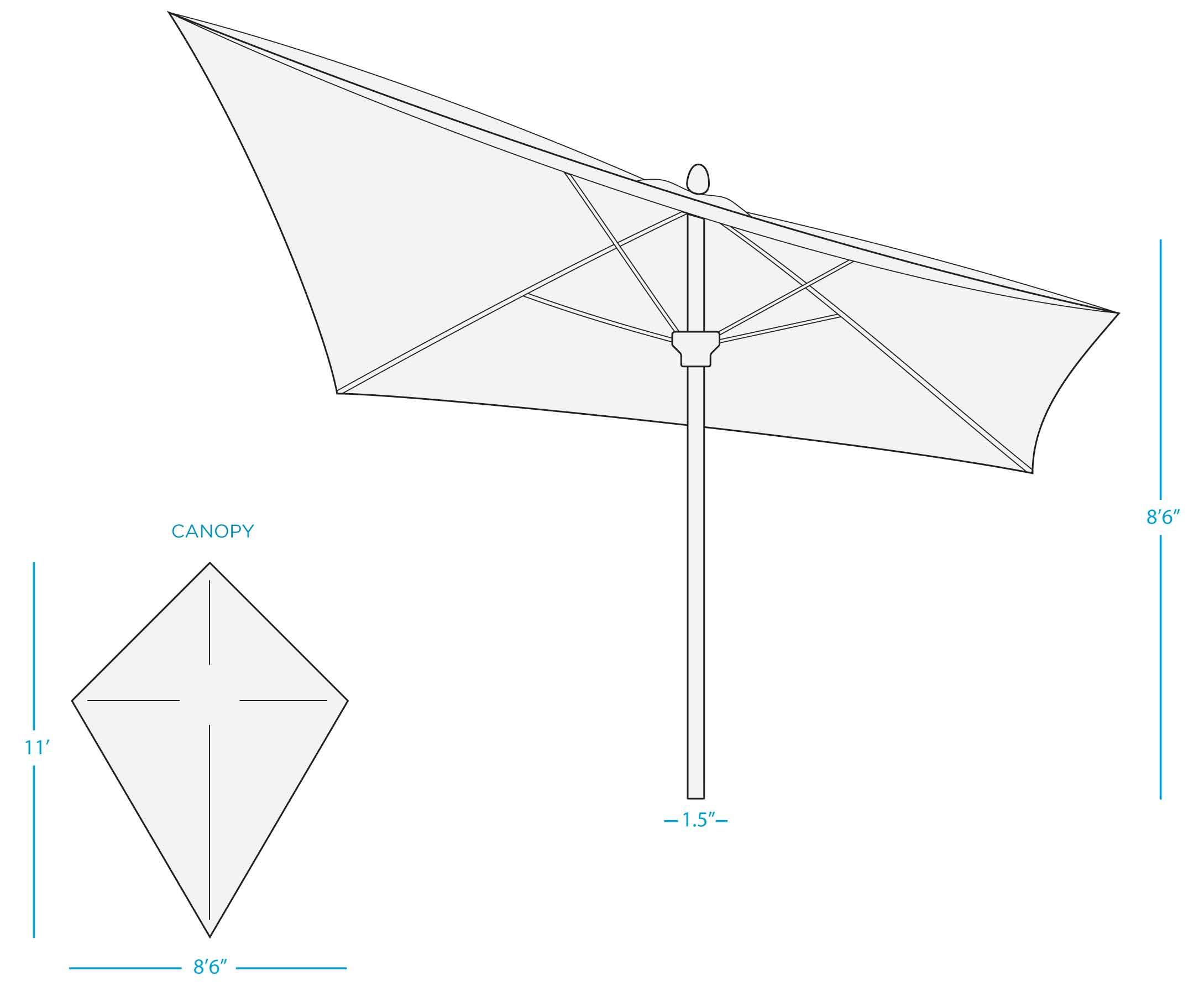 diamond-umbrella-dimension-diagram