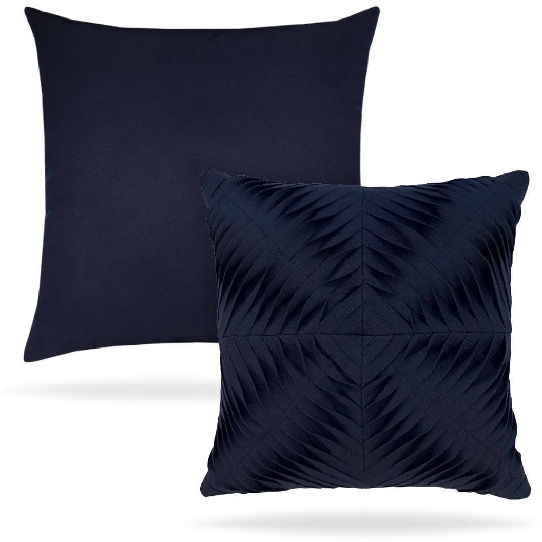 dimension-pillow-11g5 Navy Reverse Side Elaine Smith