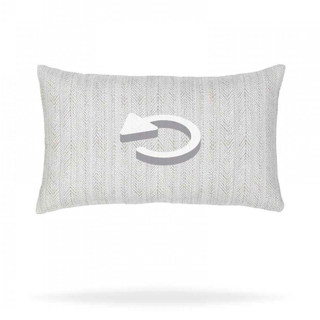 dressage-pebble-21b3 Pillow Reverse side