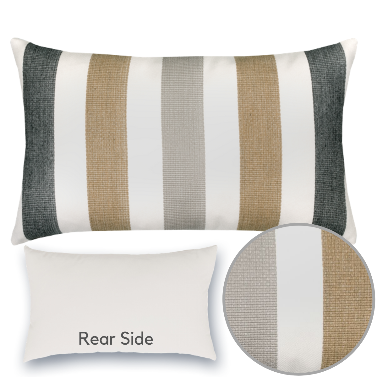 dune-stripe-lumbar pillow from Elaine Smith