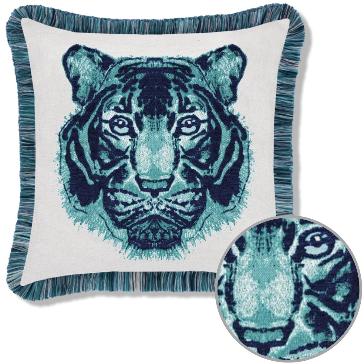 elaine-smith-bengal-midnight pillow sunbrella
