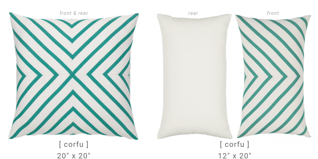 elaine-smith-corfu outdoor luxury pillow