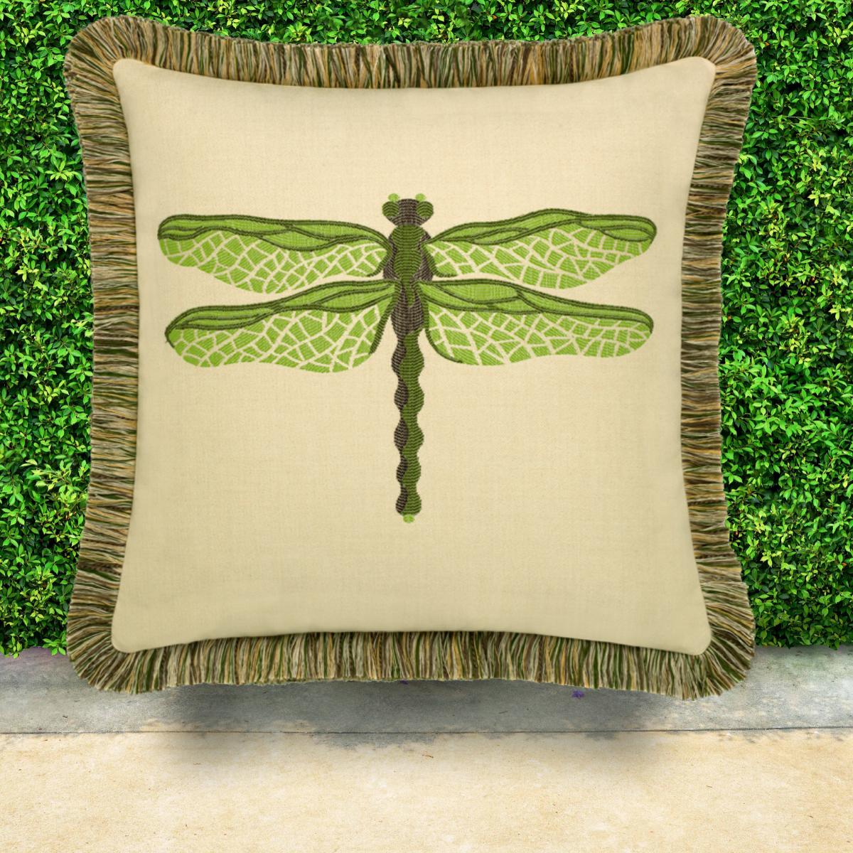 elaine-smith-sunbrella-dragonfly-pillow-peridot
