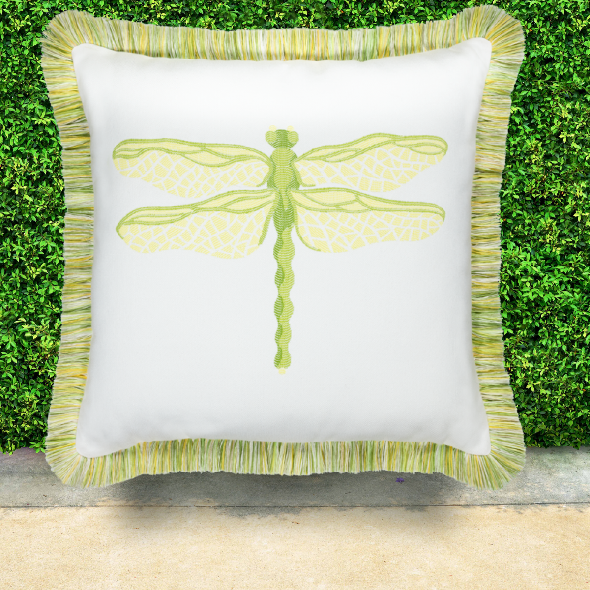 elaine-smith-sunbrella-dragonfly-pillow-citron