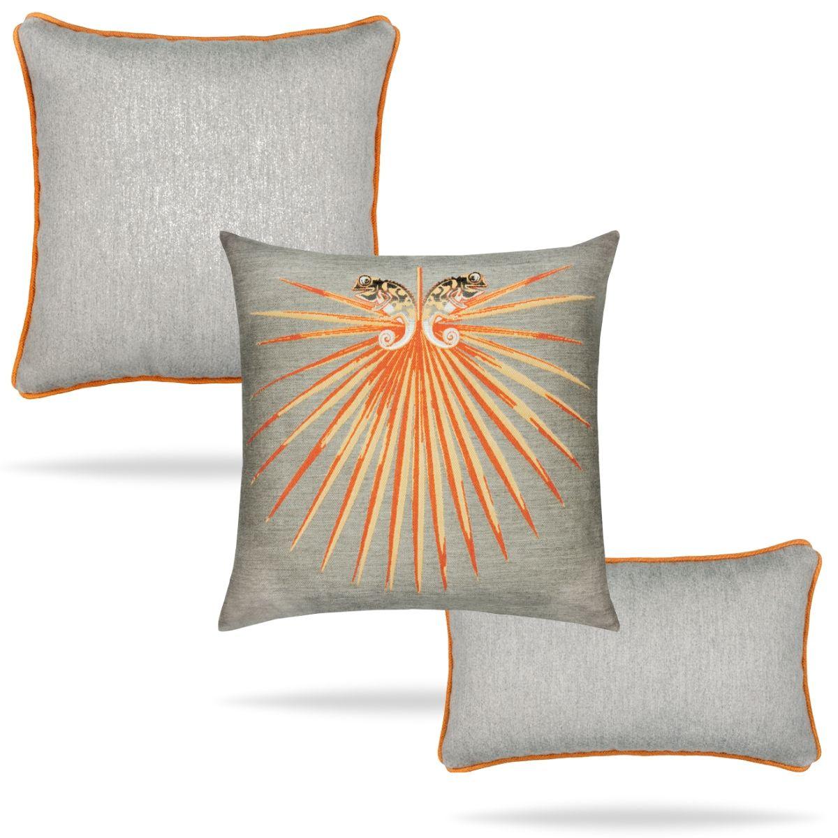 elaine-smith-tangerine-pillows set