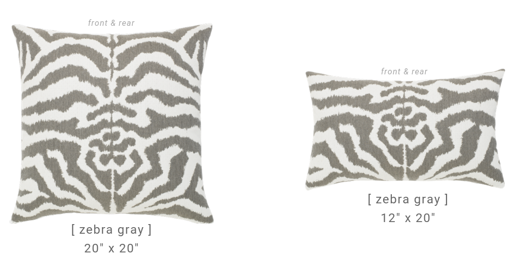 elaine-smith-zebra pillows for the outdoors