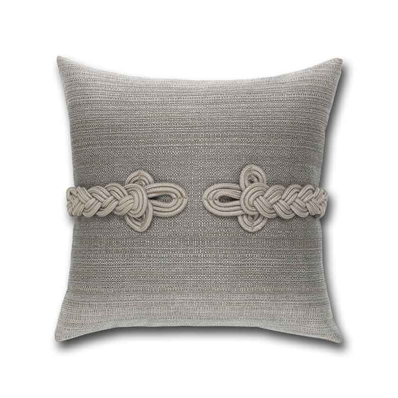 Luxury Frogs clasp pillow by Elaine Smith
