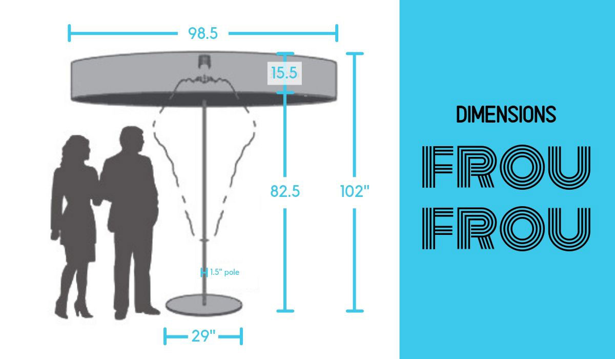 Symo Frou Frou Umbrella Dimensions