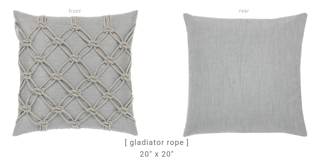 granite-rope-square-pillows for outdoor chaise