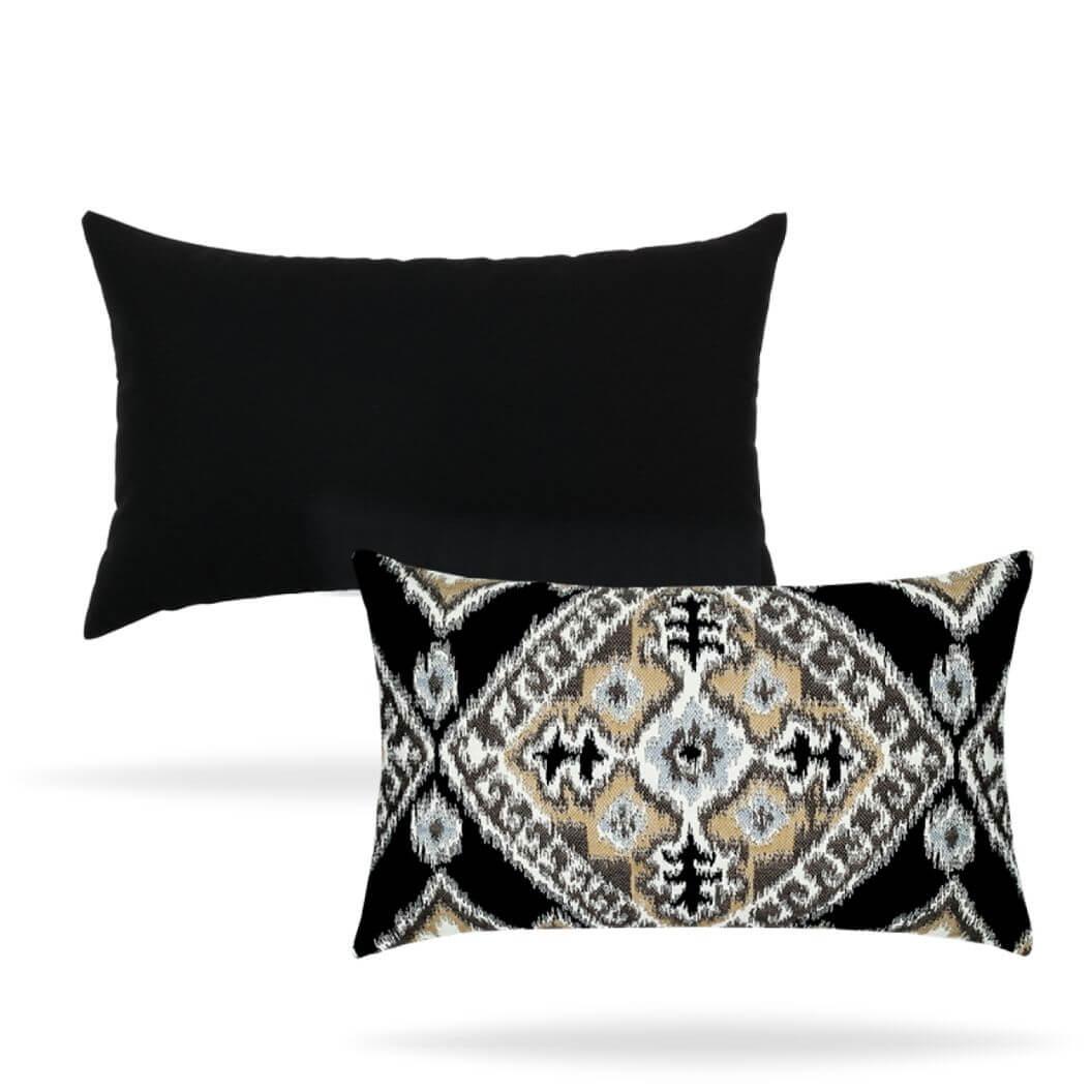 ikat-diamond-onyx-both-sides pillow